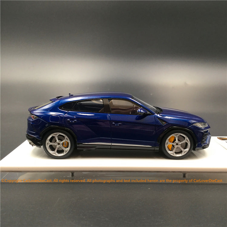 "Makeup 1:43 Lamborghini URUS 2017 -Nath 22"" wheel Metallic Dark Blue (EM410C) resin car model"
