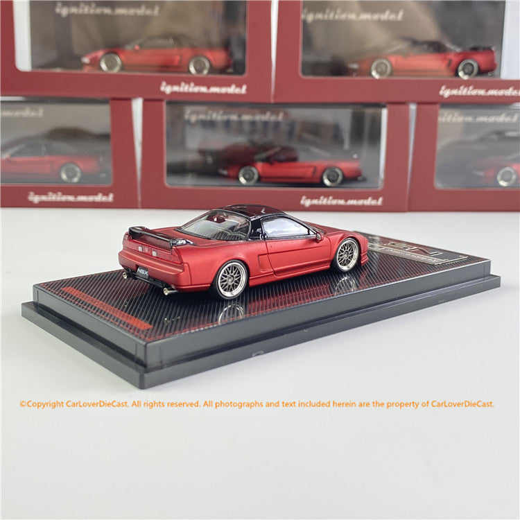 Ignition Model 1/64  Honda NSX (NA1) Matte Red Metallic  ( IG1938) Diecast car model available  now