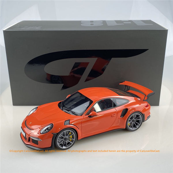 GT Spirit 1:18 PORSCHE 911 (991.1) GT3 RS (Lava Orange) GT844 Carloverdiecast exclusive edition limited 888pcs