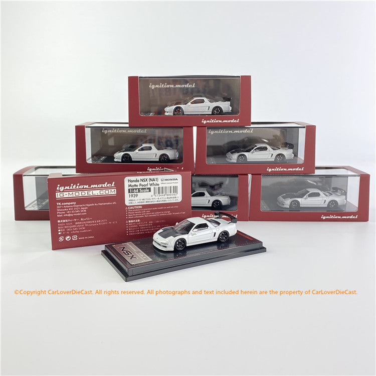 Ignition Model 1/64  Honda NSX (NA1) Matte Pearl White  ( IG1939) Diecast car model available now