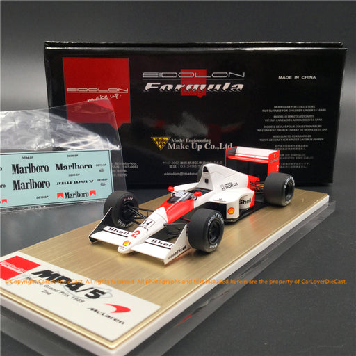 Makeup 1:43 McLaren Honda MP4/5 Monaco GP No.2 2nd (FE023B) resin car model
