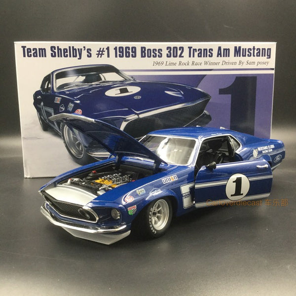 ACME 1:18 1969 Boss 302 Trans Am Mustang #1  (A1801819) Diecast available Now