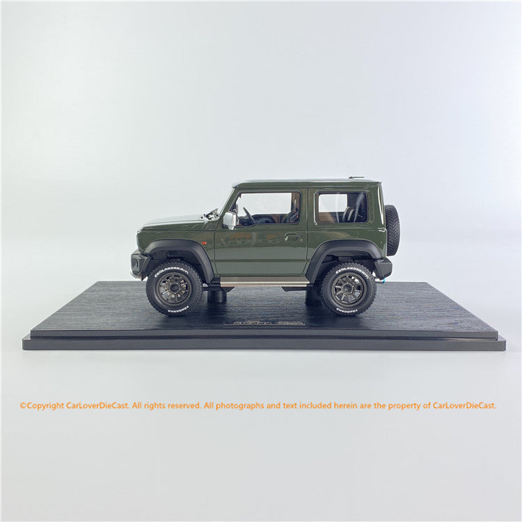 Ignition Model 1/18 SUZUKI Jimny SIERRA JC (JB74W) Jungle Green Lift Up (IG1704) resin car model available Now