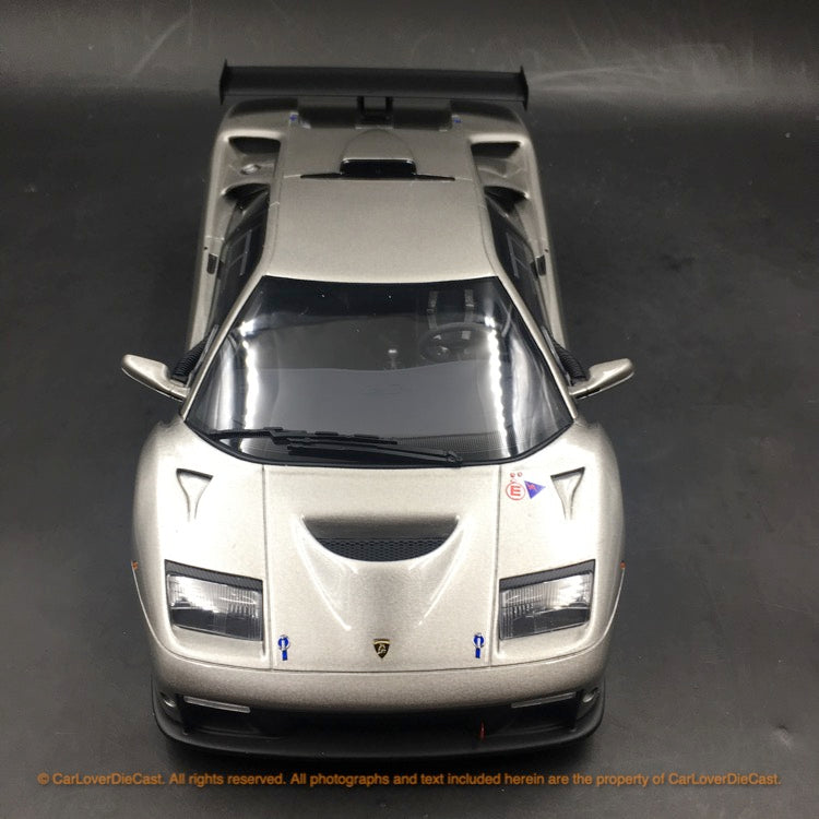 Kyosho 1:18 Lamborghini Diablo GTR (Silver) resin car model (KSR18509S-B) available  now