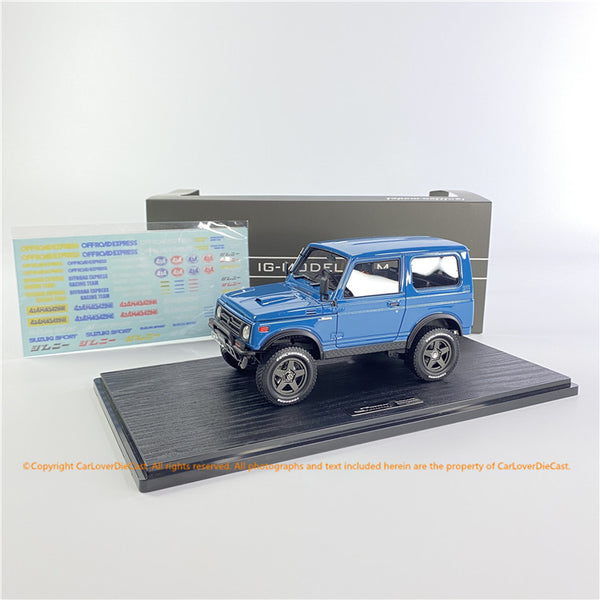 Ignition Model 1/18 SUZUKI Jimny (JA11) Lift Up Blue  (IG1722) resin car model available Now