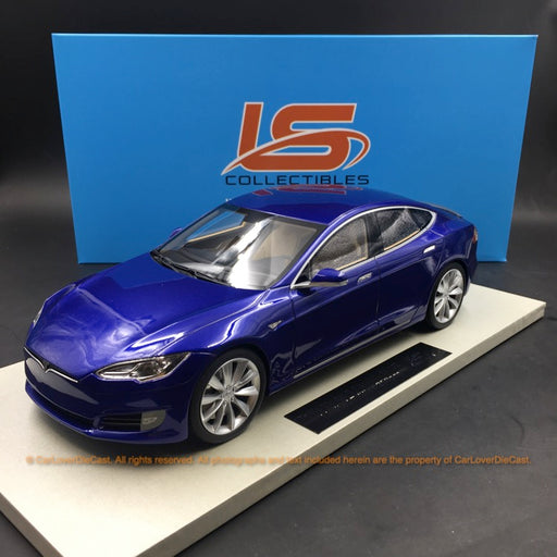 LS Collectibles - Tesla Model S Facelift in Blu resin scale 1:18 (LS028E)