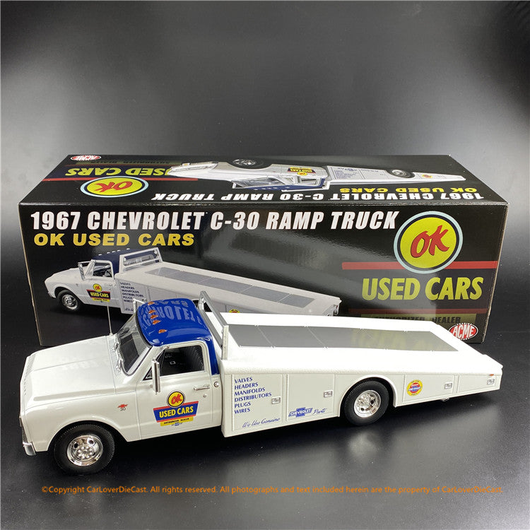 ACME 1:18 1967 Chevrolet C-30 Ramp Truck - OK Used cars (A1801705) diecast car model