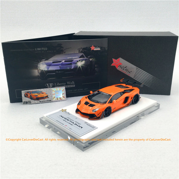 Fuelme 1:43 Liberty Walk Aventador 50th Limited edition (Metallic Orange) FM43007LM-50LE-JN05 modèle de voiture en résine disponible dès maintenant