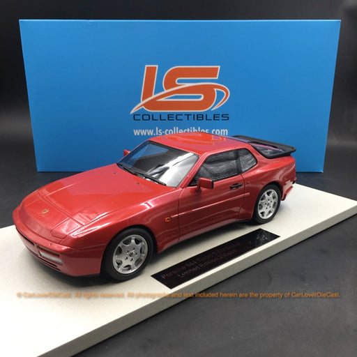 LS Collectibles 1:18 Porsche 944 Turbo S (LS023E) resin car model in Velvet Red