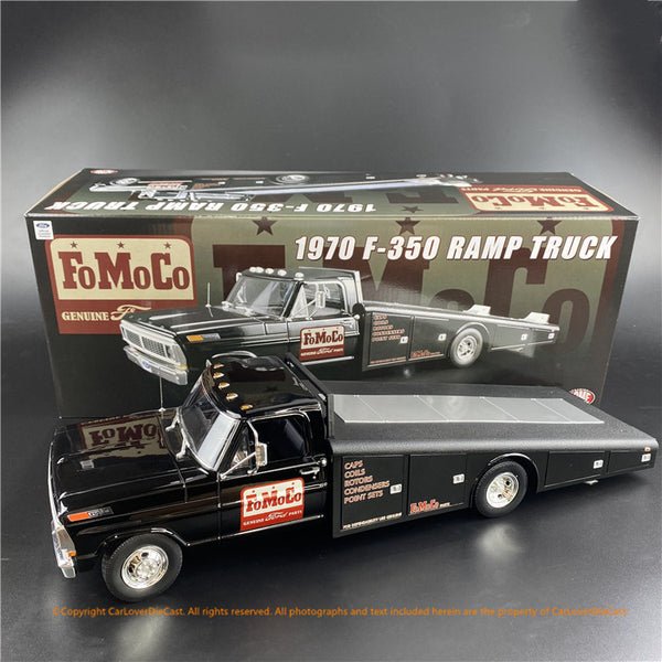 ACME 1:18 1970 Ford F-350 Ramp Truck -FoMoCo Parts (A1801408) diecast car model