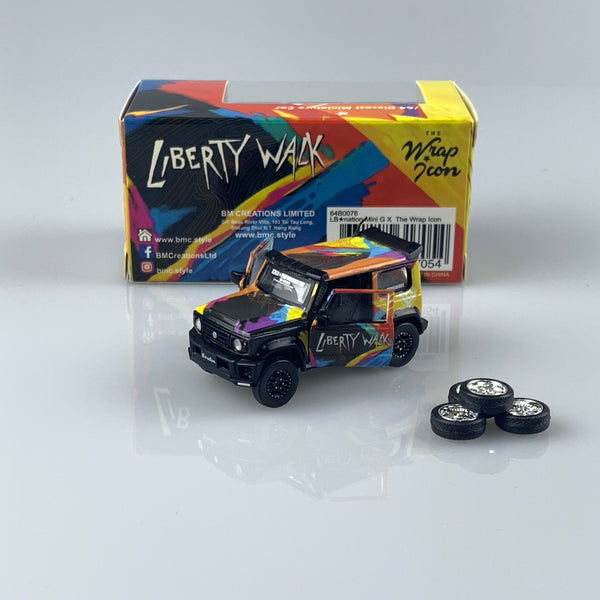 BM creaations 1:64 LBWK Mini G X THE WRAP ICON (64B0076) diecast car model