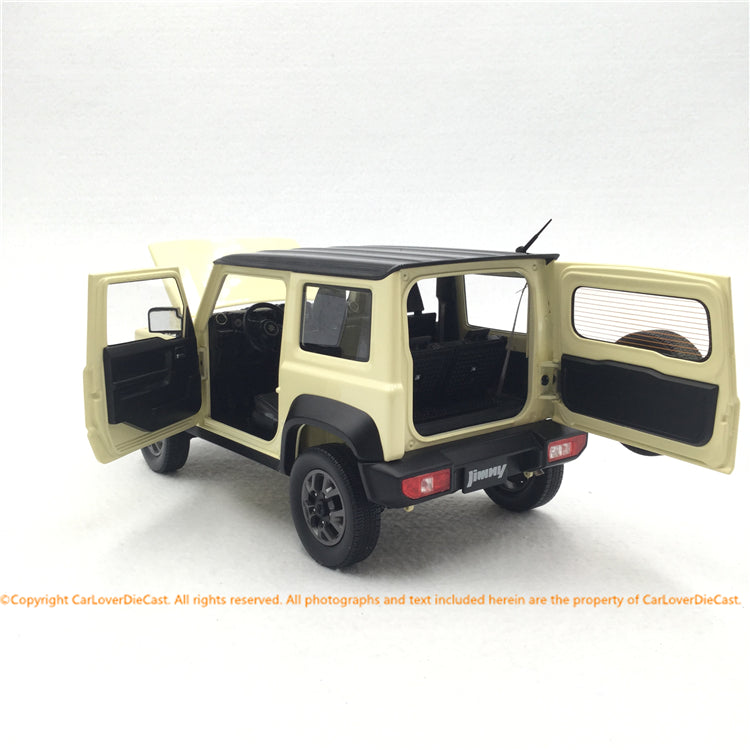 BM Creations 1:18 Suzuki Jimny Sierra - Chiffon Ivory Metallic (RHD/LHD )  limited 999 units (18B0003/4)) available on October 15th 2020 Pre order now