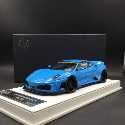 JUC 1:18 LB works F430 (resin Model)  Baby Blue+ display case and White Leather like base available  now (J38-07)  limited 12 units