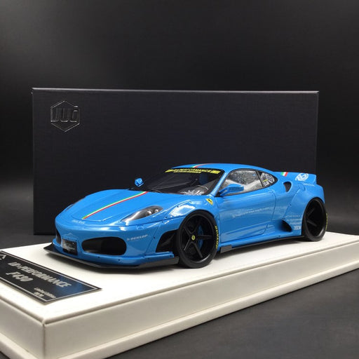 JUC 1:18 LB works F430 (resin Model)  Baby Blue with Italian Strip + display case and White Leather like base available  now (J38-07i)  limited 10 units