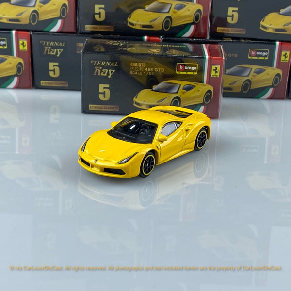 Bburago 1:64 Ferrari 488 GTB (Yellow) 18-56100#5 diecast car model