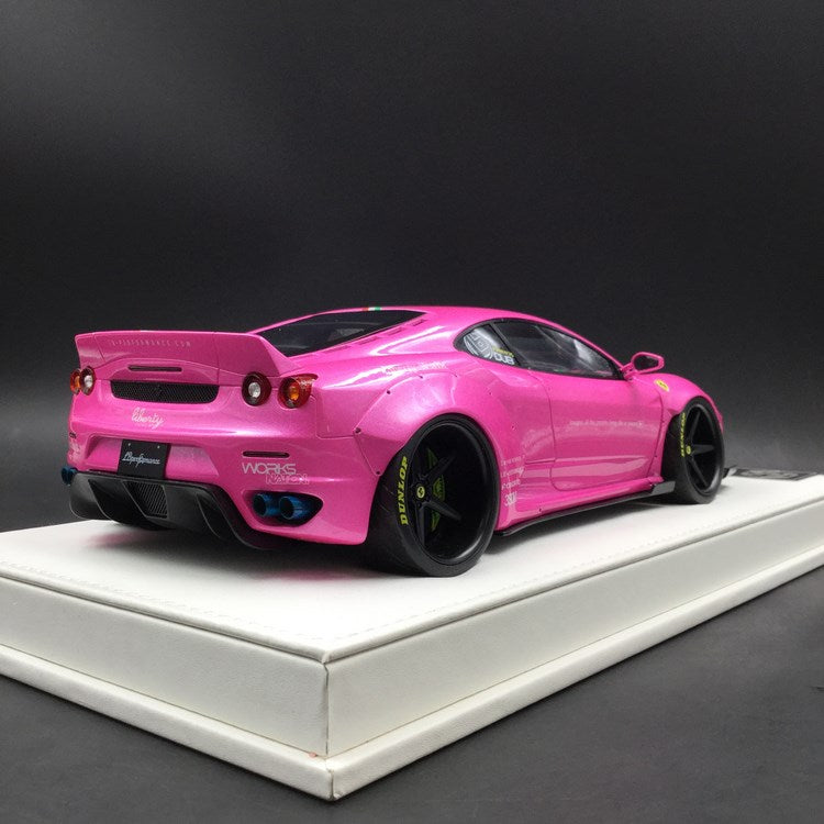 JUC 1:18 LB works F430 (resin Model)  Pearl Pink with Italian Strip + display case and White Leather like base available  now (J38-09i)  limited 10 units