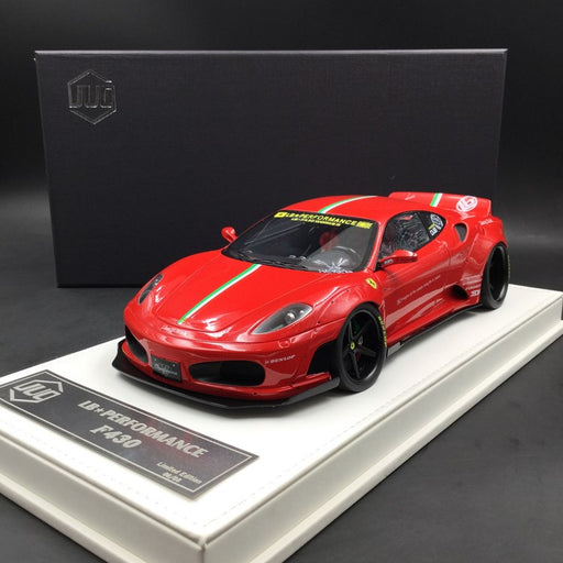 JUC 1:18 LB works F430 (resin Model)  Red with Italian Strips + display case and White Leather like base available  now (J38-005i)  limited 8 units