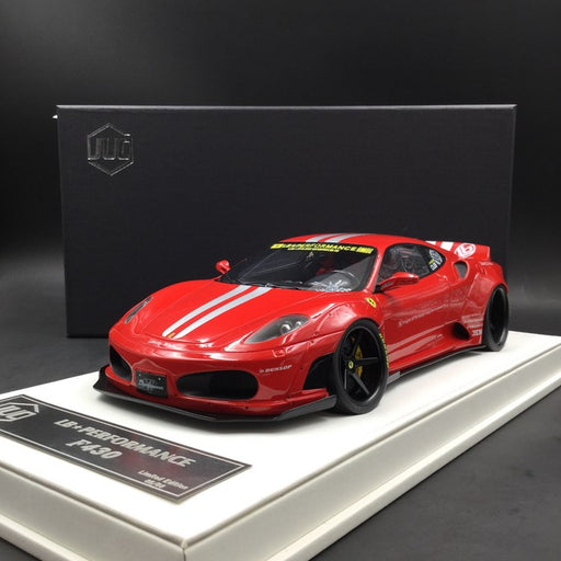 JUC 1:18 LB works F430 (resin Model)  Red with Silver Strips + display case and White Leather like base available  now (J38-005S)  limited 8 units