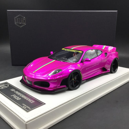 JUC 1:18 LB works F430 (resin Model) Flash Pink with Italian Strip + display case and White Leather like base available  now (J38-11i)  limited 10 units