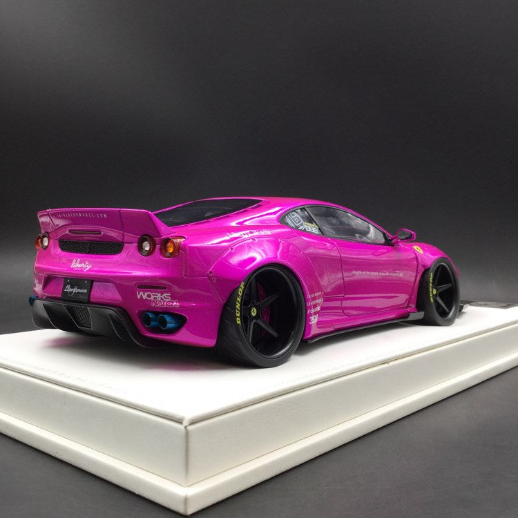 JUC 1:18 LB works F430 (resin Model) Flash Pink + display case and White Leather like base available  now (J38-11)  limited 15units