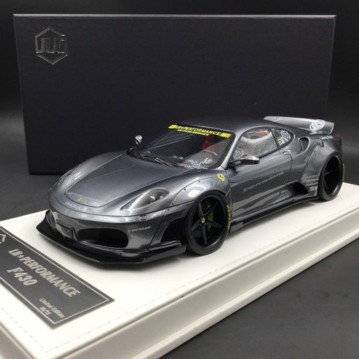 JUC 1:18 LB works F430 (resin Model)  Iron Grey + display case and White Leather like base available  now (J38-08)  limited 15 units