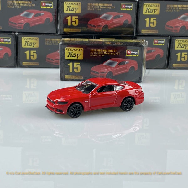 Bburago 1:64 Ford Mustang GT (Red) 18-59000#15  diecast car model