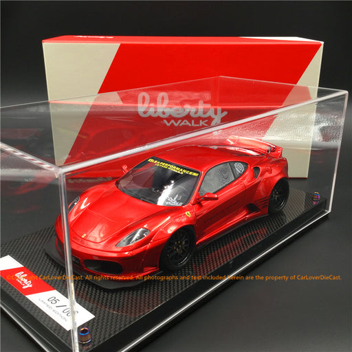 Liberty Walk 1:18 F430 (Metallic Red) LB1867-MR resin car model available now