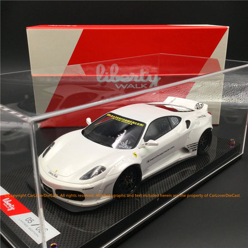 Liberty Walk 1:18 F430 (Pearl White) LB1867-PW resin car model available  now