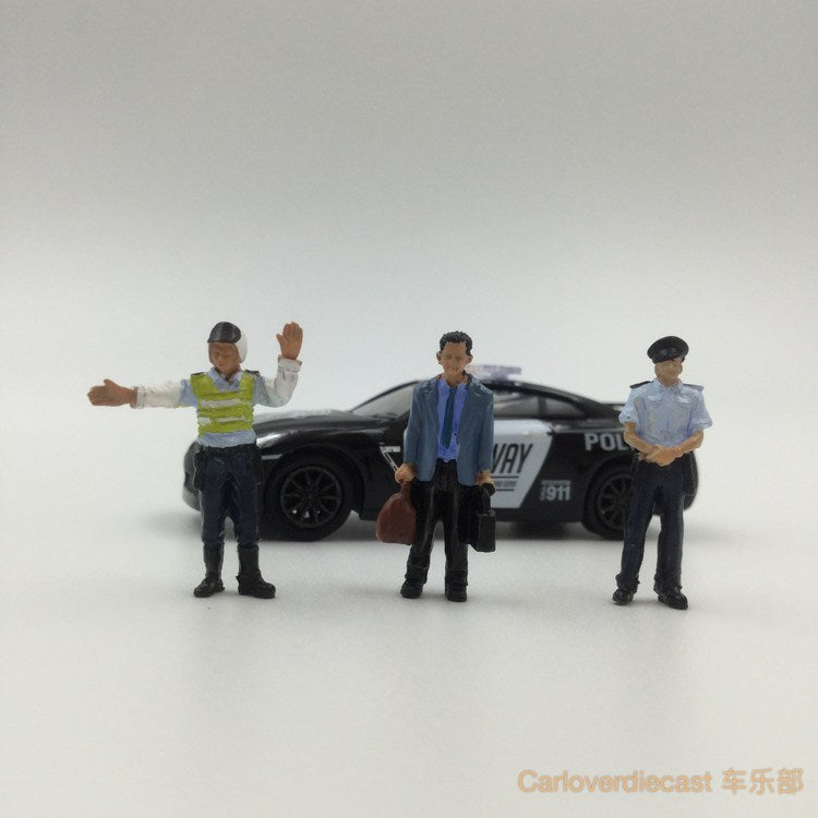 (Zoomer Miniature Models) 1:64 Police Series Included 3 figure available on July 2017 Pre-order now (ZMF6401)