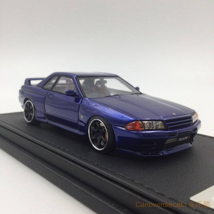 (Ignition Model) Nissan Nismo R32 GT-R S-tune Blue  (RA Wheel) Resin Scale 1:43 (IG0925)