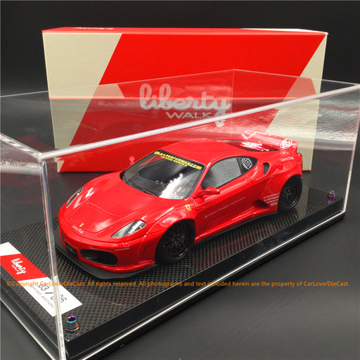 Liberty Walk 1:18 F430 (Rosso Corsa) LB1867-RC resin car model available now