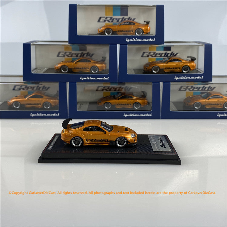 Ignition Model 1/64 Toyota Supra (JZA80) RZ Orange  Metallic  GReddy Ver. (IG2238) Diecast car model available now