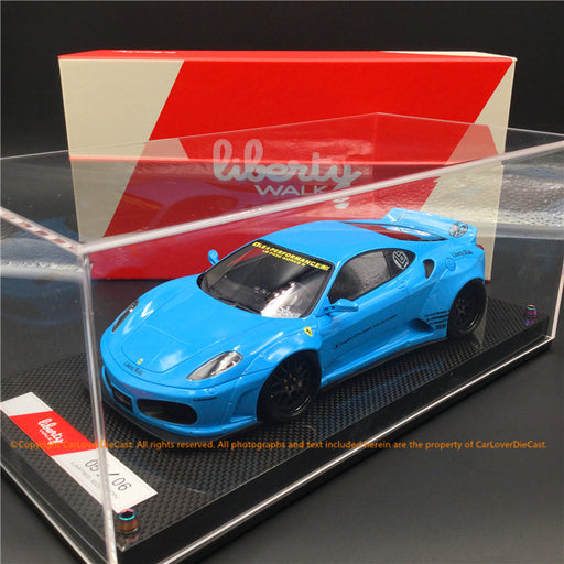 Liberty Walk 1:18 F430 (baby Blue) LB1867-BB resin car model available  now