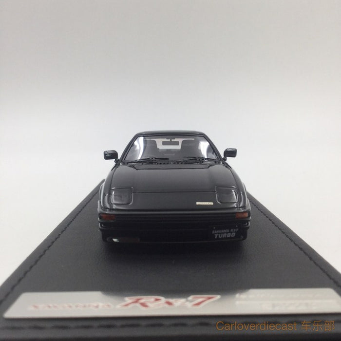 Ignition Model Mazda Savanna RX-7 (SA22C) Black (W-Wheel) resin scale 1:43  (IG0915) available now