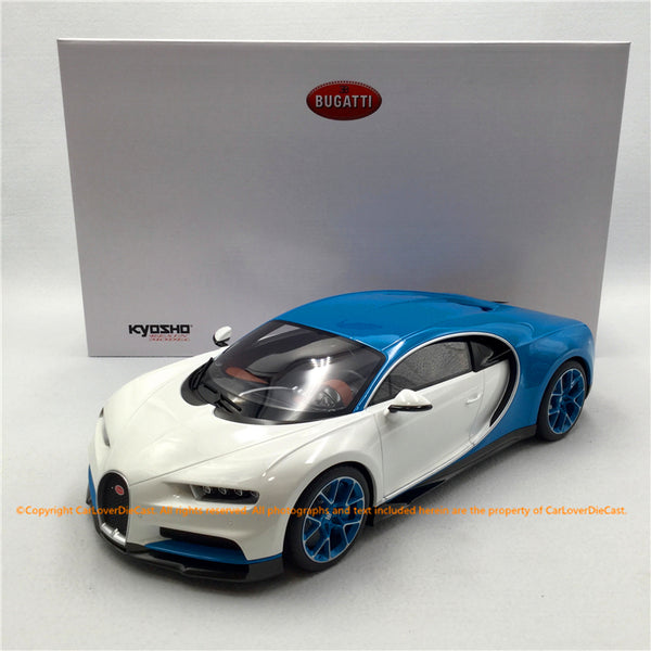 Kyosho 1:12 Bugatti Chiron (White Blue) KSR08664W-Z   Resin Car model Limited 300 units available now