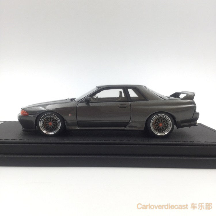 (Ignition Model) Nissan Nismo R32 GT-R S-tune Gun gray metallic carbon hood  (BB Wheel) Resin Scale 1:43 (IG0926)