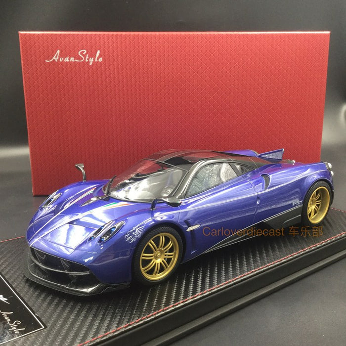Charmant Avanstyle Pagani Huayra Resin Scale 1:18 (Purple Blue) Available  Now .