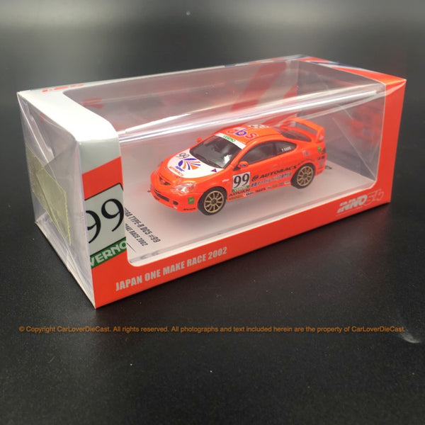 "Inno Model 1:64 HONDA INTEGRA Type-R DC5 # 99 ""AUTOBACKS"" VERNO Japan One Make Race 2002 (IN64-DC5-AB) modèle moulé sous pression disponible maintenant"