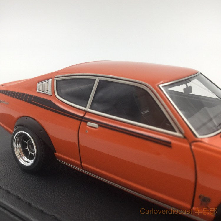 (Ignition Model) Mitsubishi Colt Galant GTO 2000GSR (A57) Orange (W-Wheel)  Resin Scale 1:43 (IG0645)