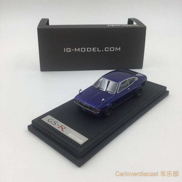 (Ignition Model) Mitsubishi Colt Galant GTO 2000GSR (A57) Blue  (W-Wheel)  Resin Scale 1:43 (IG0644)