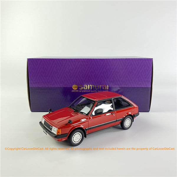 "Kyosho 1:18  Mazda Familia RED ""SAMURAI"" Collection (KSR18049R-B) resin car model"