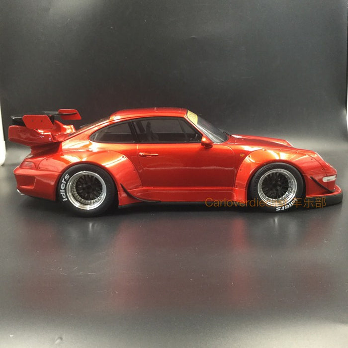 GT Spirit - Porsche 993 RWB resin Scale 1:12 CANDY RED BLACK & CHROME WHEELS (KJ019) available now