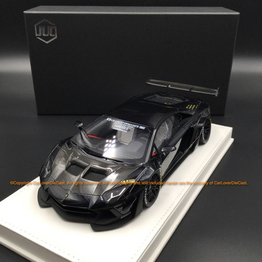 JUC 1:18 LB works 2.0 Aventador resin car model (Black with normal based ) J39-05
