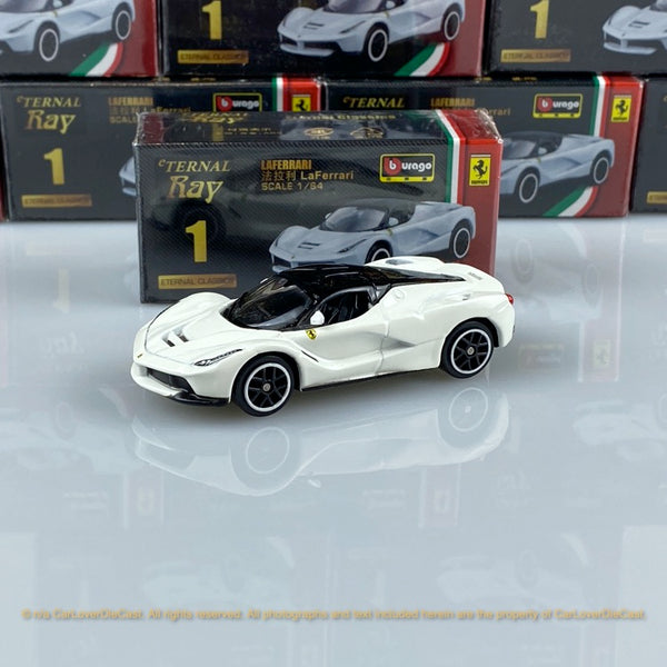 Bburago 1:64 Ferrari LaFerrari (white) 18-56100#1 diecast car model