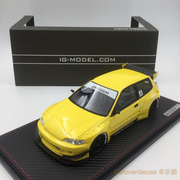 Ignition Model - Pandem Civic (EG6) yellow (EN-Whieel) available now (IG1053) free display cover