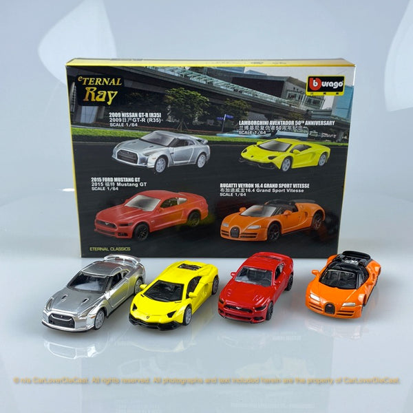 Bburago 1:64 Super Car  4 in 1 pack 15494  diecast car model