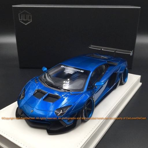 JUC 1:18 LB works 2.0 Aventador resin car model (Metallic Blue Normal base ) J39-08