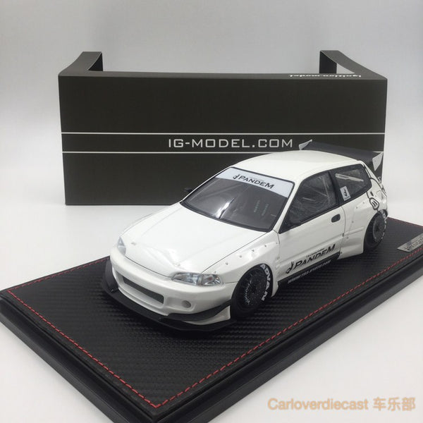 Ignition Model - Pandem Civic (EG6) White (RB-Whieel) available now (IG1049) free display cover