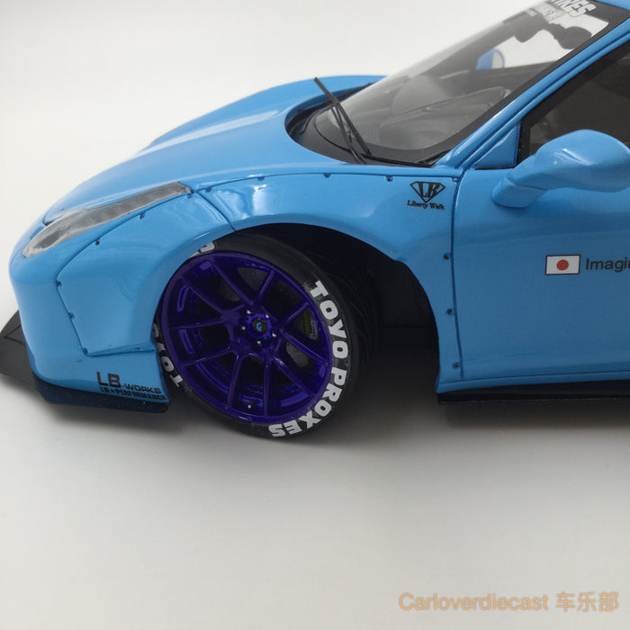 (AGU Model) 458 LB works (new tooling edition)  resin scale 1:18 limited 999 pcs (Baby Blue) AGU-008CR