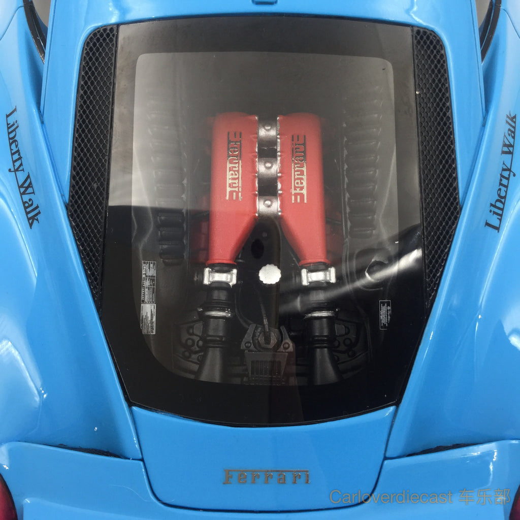 (AGU Model) 458 LB works (new tooling edition)  resin scale 1:18 limited 999 pcs (Baby Blue)